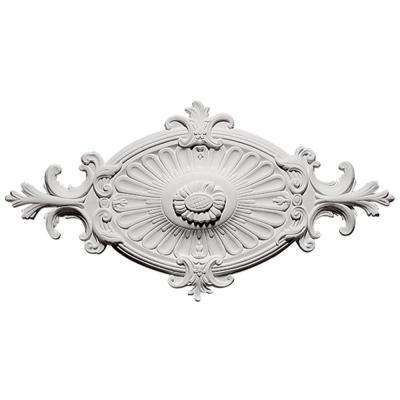 12-1/4 in. x 23-3/4 in. Victorian White Ceiling Medallion