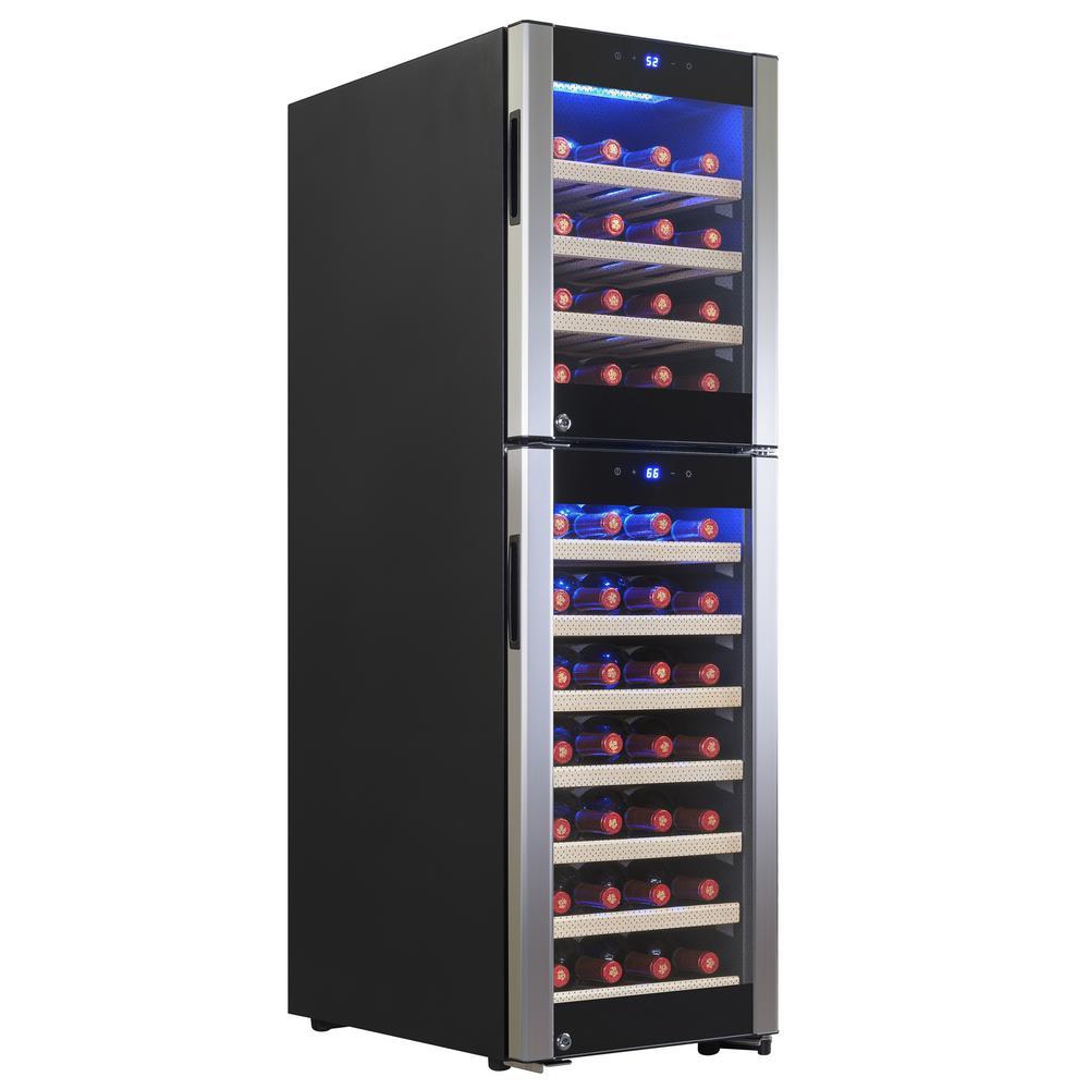 15.5 in. 53-Bottle Wine and 106-Can Compressor Beverage Cooler