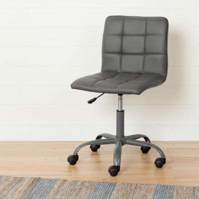 Annexe Gray Office Chair with Quilted Seat