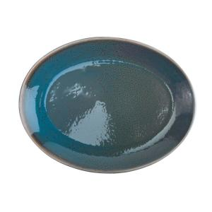 Oneida Dusk 11 In Porcelain Blue Oval Round Coupe Platters Set Of 12 F1493020355 The Home Depot