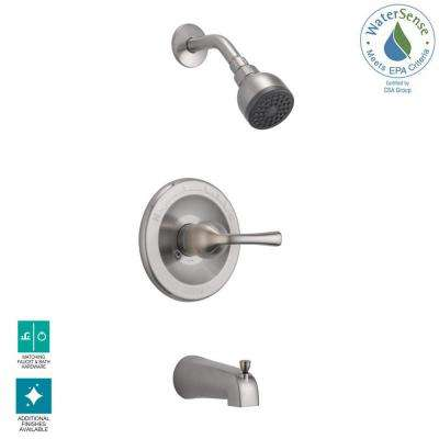 Foundations Single-Handle 1-Spray Tub and Shower Faucet in Brushed Nickel (Valve Included)