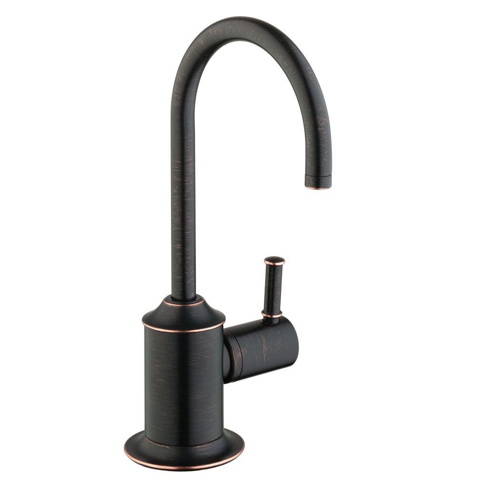 Hansgrohe Talis C Lever Drinking Fountain Faucet In Rubbed Bronze 04302920 The Home Depot
