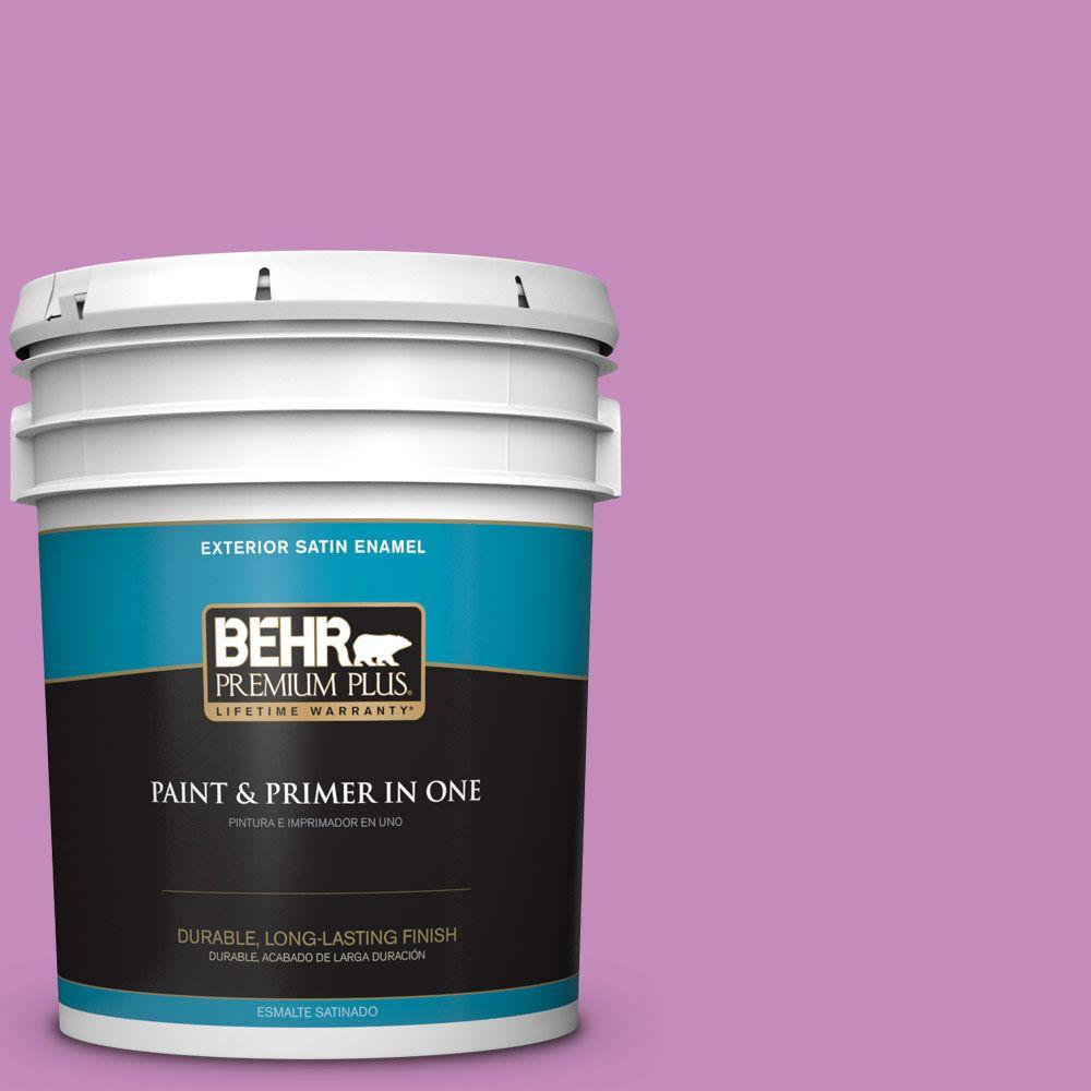 BEHR Premium Plus 5-gal. #P110-4 Rock Star Pink Satin Enamel ...