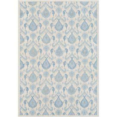 Tamara Denim 5 ft. 3 in. x 7 ft. 3 in. Ikat Area Rug
