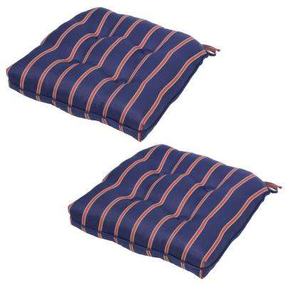 Midnight Ruby Stripe Outdoor Seat Cushion (2-Pack)