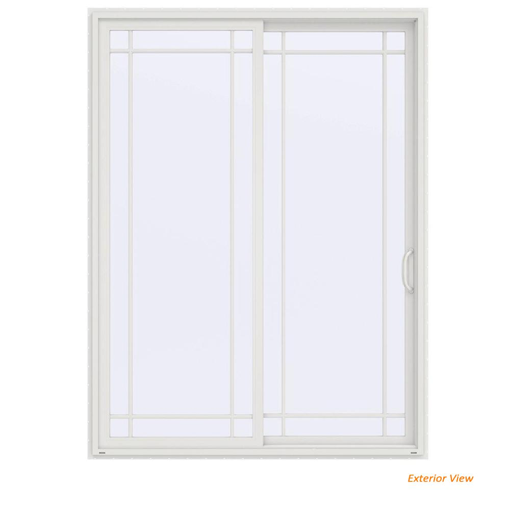 Jeld Wen 72 In X 96 In V 4500 Contemporary White Vinyl Right Hand