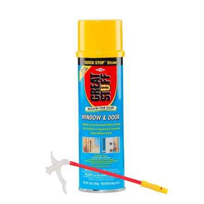 16 oz  Window and Door Insulating Foam Sealant with Quick Stop Straw