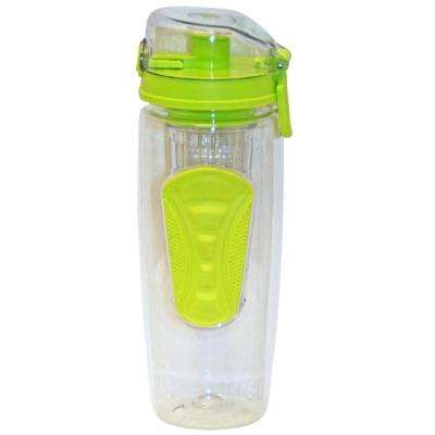 32 oz. Green Plastic Tritan Hydration Bottle with Infuser (6-Pack)