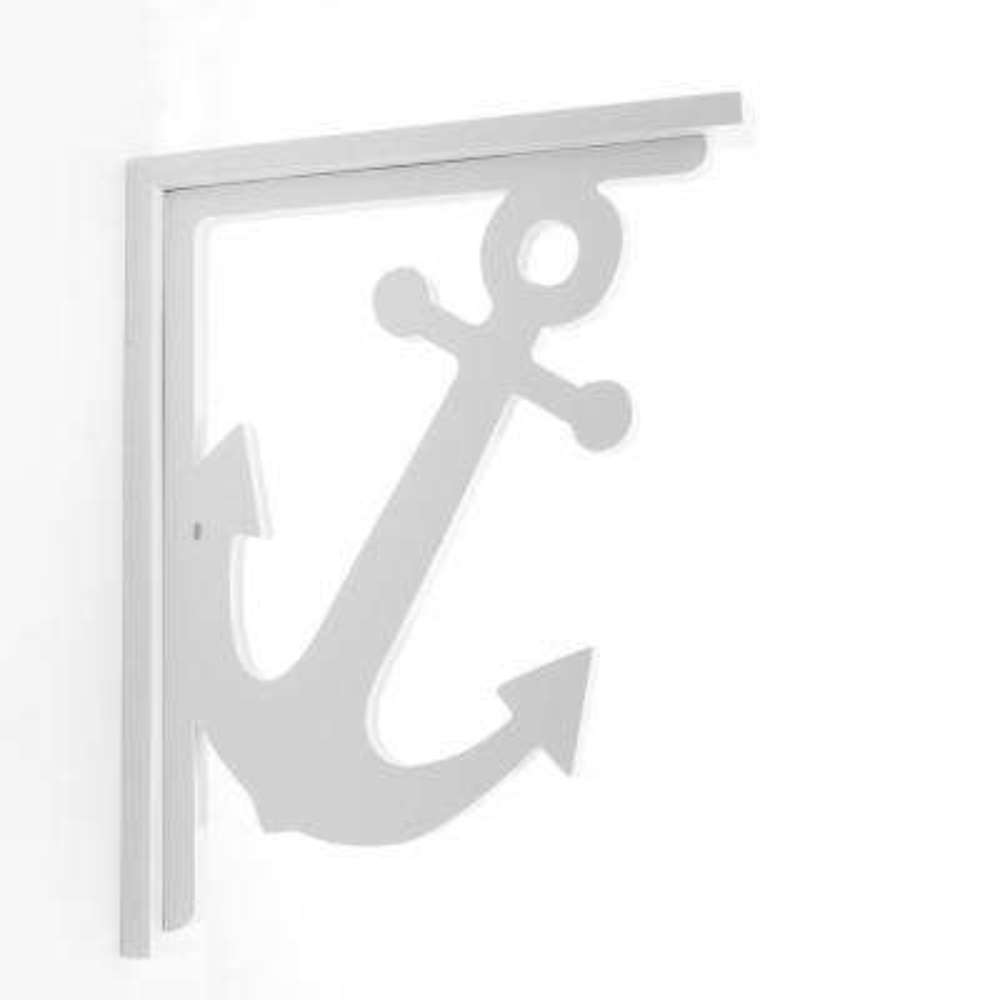 Decorative 9-1/2 in. PVC Anchor Shelf Bracket