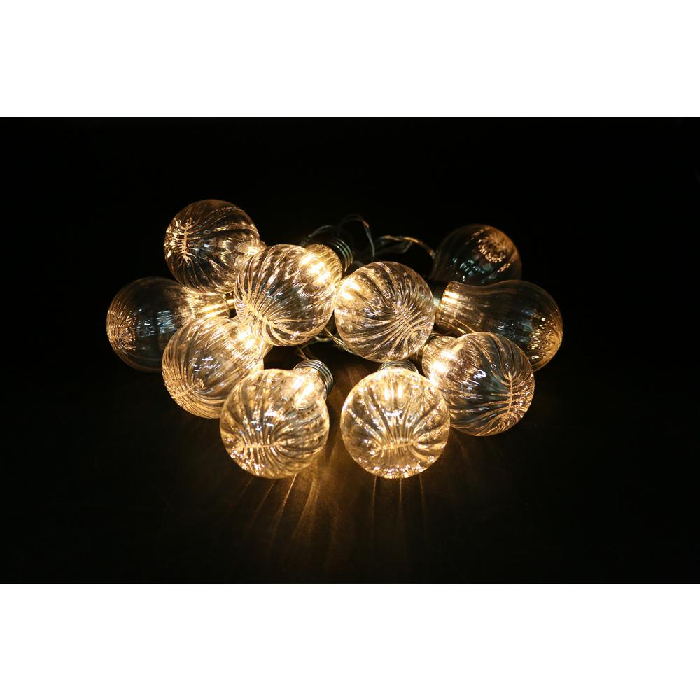 alpine 10 light led bulb textured edison string light set set of 10