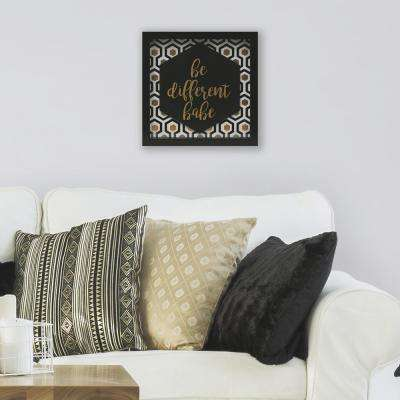 Be Different Babe 10 in. x 10 in. Shadowbox Wall Art