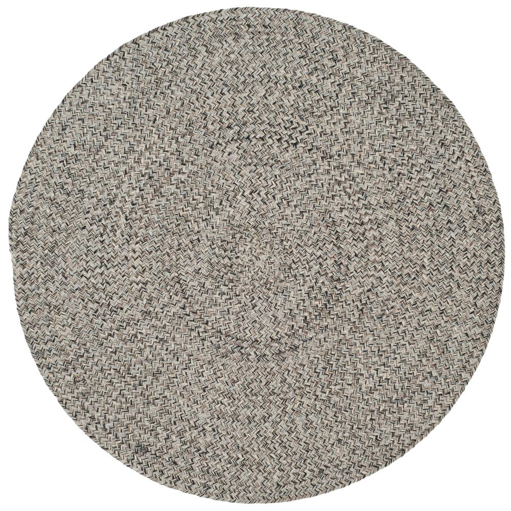 Safavieh Braided Ivory Steel Gray 3 Ft X 3 Ft Round Area Rug