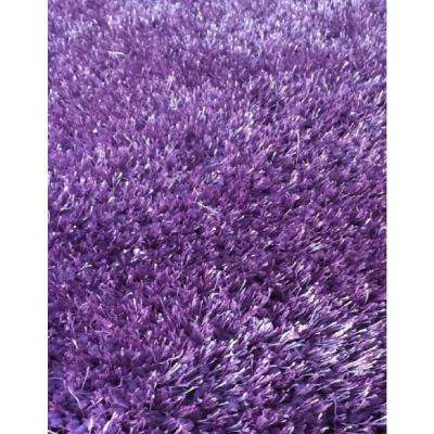 Chubby Solid 5 ft x 7 ft Soft Hand Tufted Shaggy Area Rug. 100% Polyester.