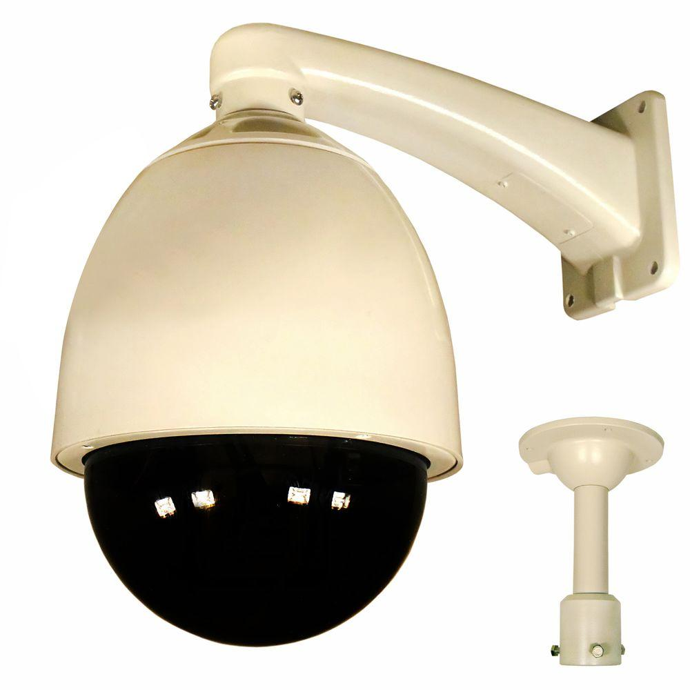 Security Labs 480 TVL CCD 27X Pan Tilt Zoom Weatherproof Dome Surveillance Camera with Heater and Blower-DISCONTINUED