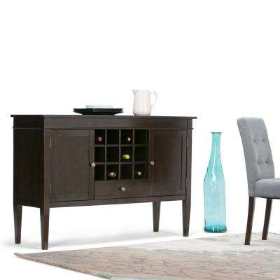 Carlton Tobacco Brown  Buffet with Wine Storage