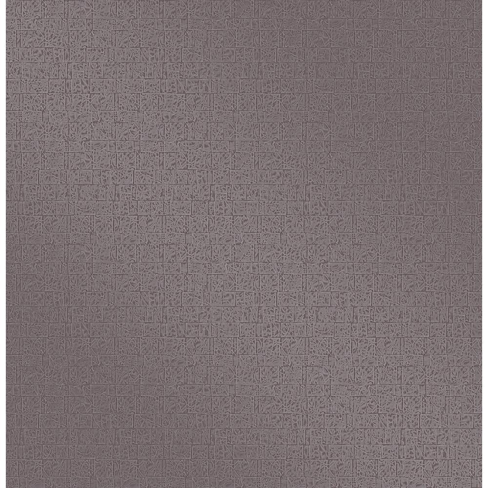 Urbana Purple Geometric Texture Wallpaper Sample