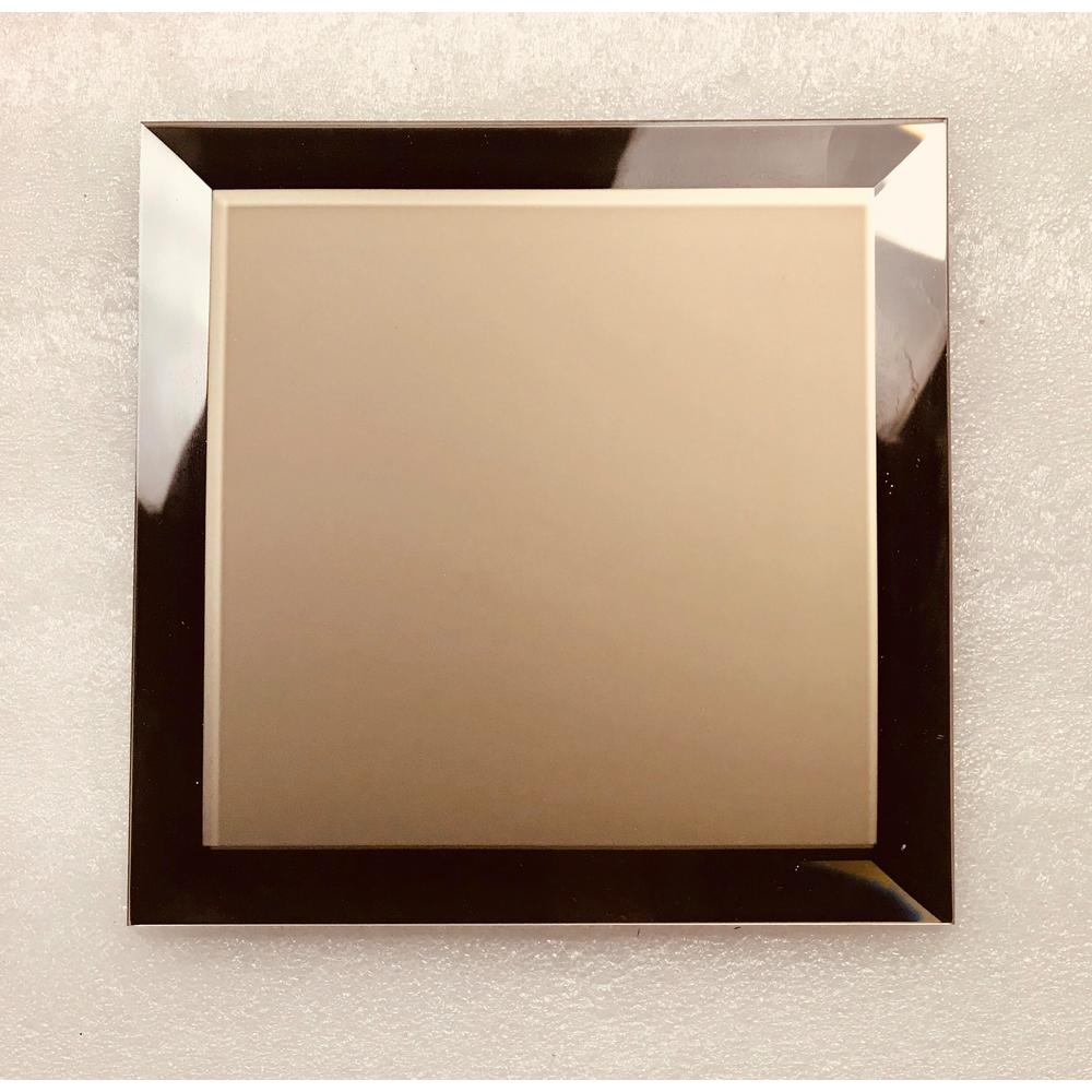 ABOLOS Reflections Gold Field 8 in. x 8 in. Frosted Matte Glass Mirror Wall Tile (4.4 sq. ft.)