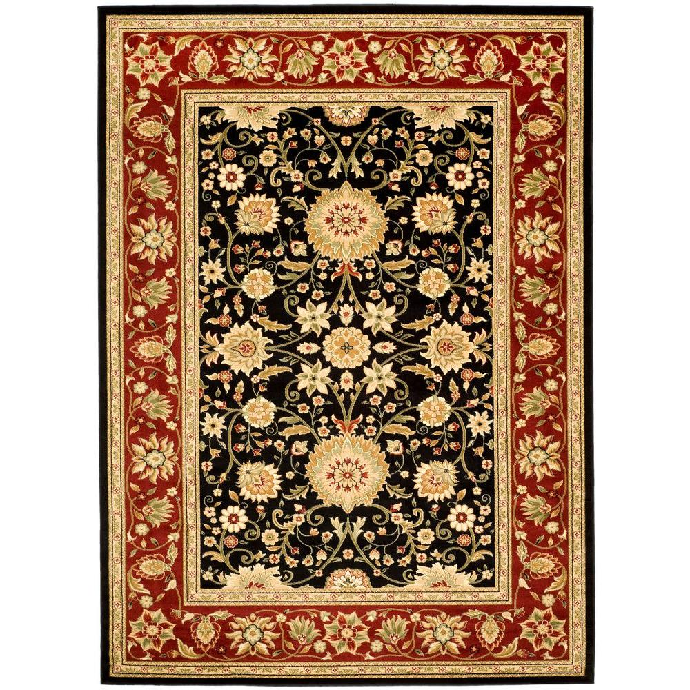 Lyndhurst Black/Red 4 ft. x 6 ft. Area Rug