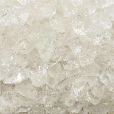 1/2 in. 25 lb. Medium Ice Clear Landscape Fire Glass