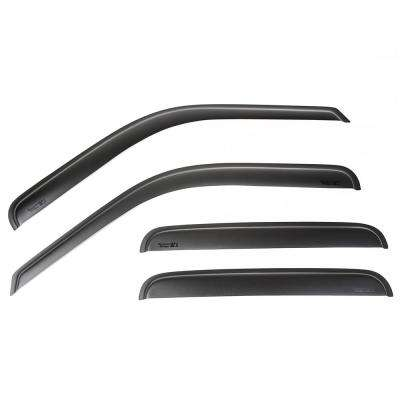 Matte Black Window Visor Kit Tape 99-14 F-250-F-550 Crew Cab Pickup