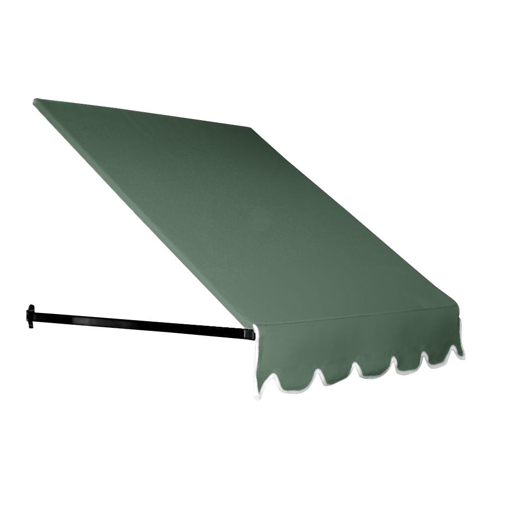 AWNTECH 35 ft. Dallas Retro Window/Entry Awning (24 in. H x 48 in. D) in Sage