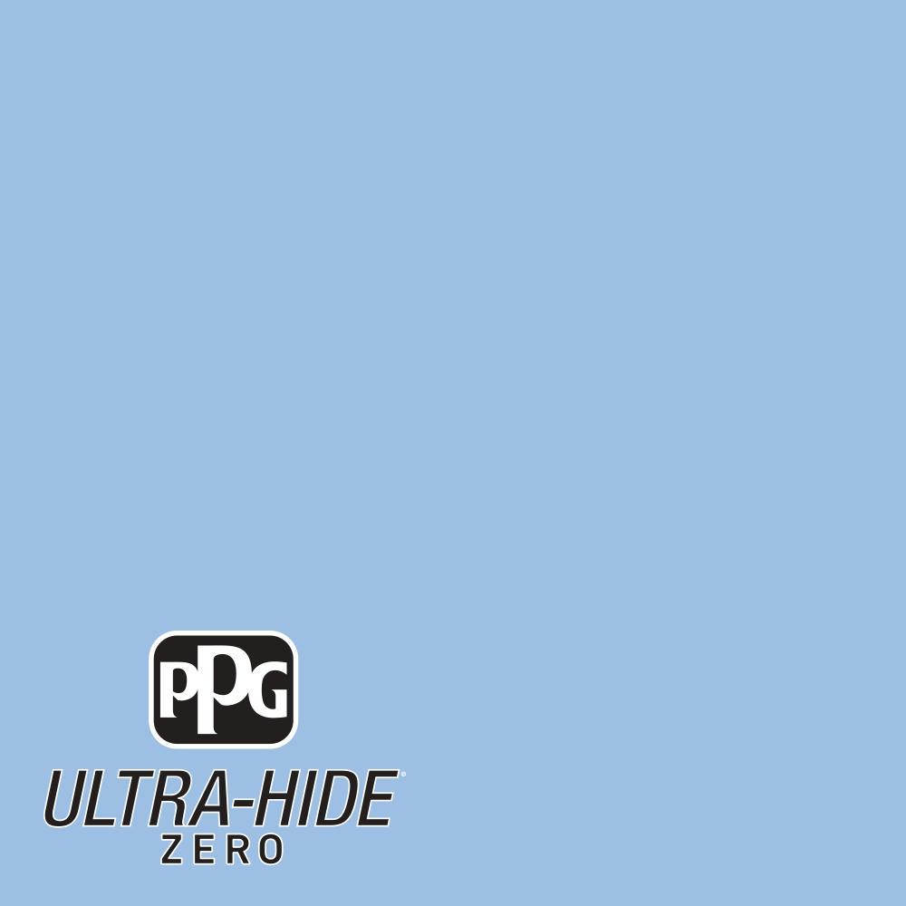 PPG 1-gal. #HDPV02U Ultra-Hide Zero Blue Collar Satin Interior Paint