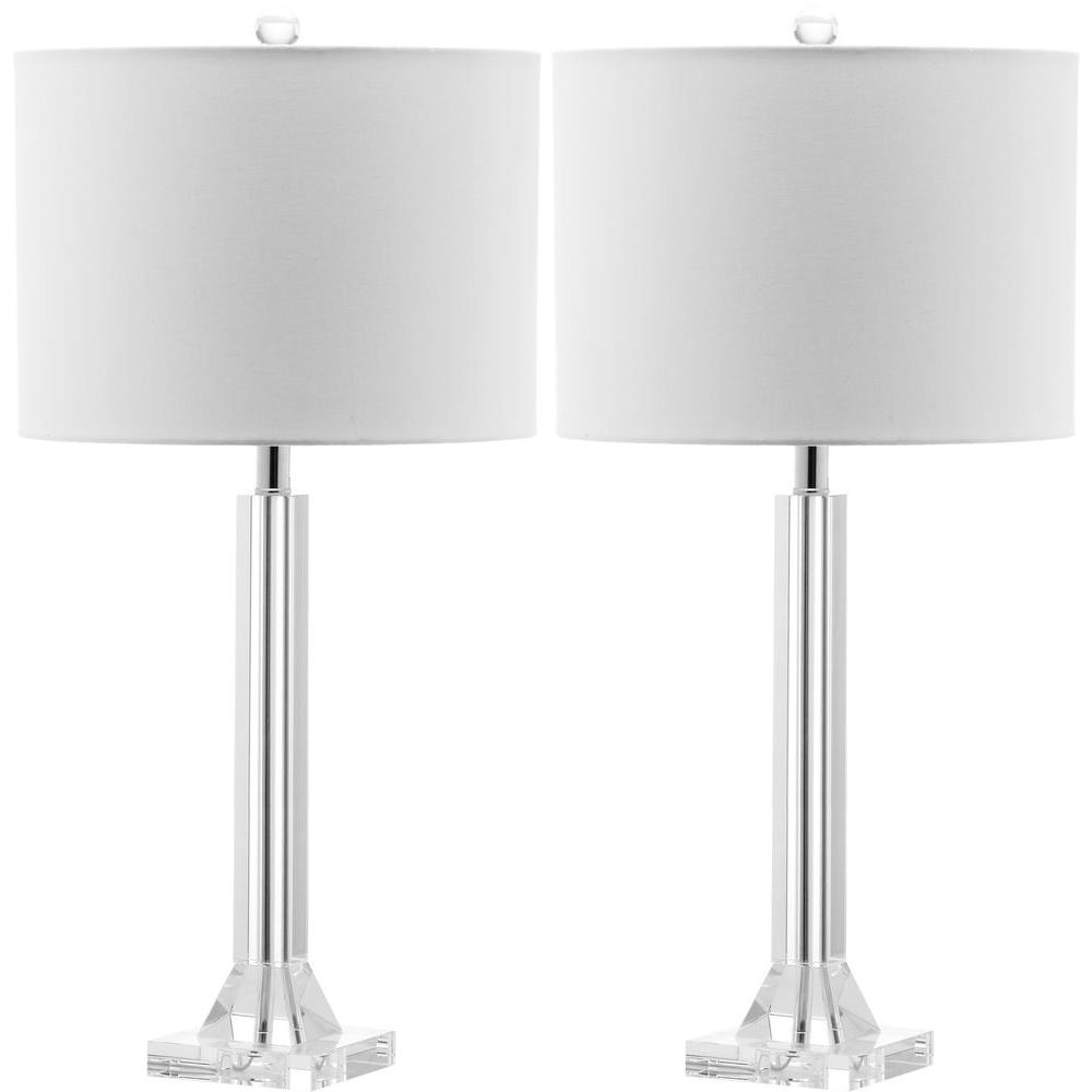Safavieh tyrone 27 in clear crystal column lamp set of 2 clear crystal column lamp set of 2 mozeypictures Choice Image