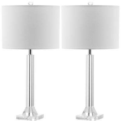 Tyrone 27 in. Clear Crystal Column Lamp (Set of 2)
