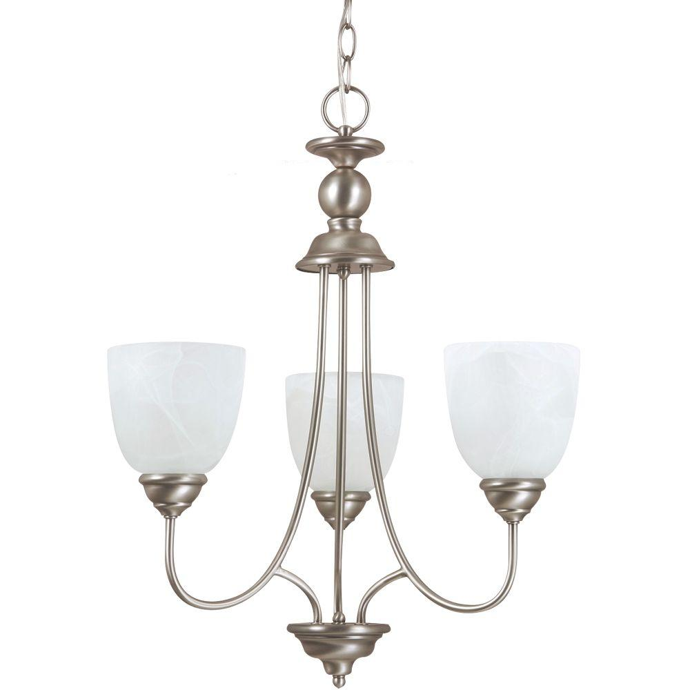 Lemont 3-Light Antique Brushed Nickel Single-Tier Chandelier