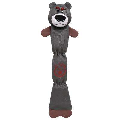 Grey Extra Long Dura-Chew Reinforce Stitched Durable Water Resistant Plush Chew Tugging Dog Toy