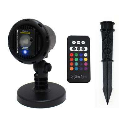 Blue Laser with integrated 16 Color Led Flood Landscape Light