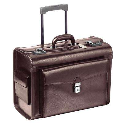 19 in. Deluxe-Wheeled Burgundy Catalog Case