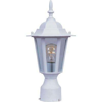 Builder Cast 1-Light White Outdoor Pole/Post Mount
