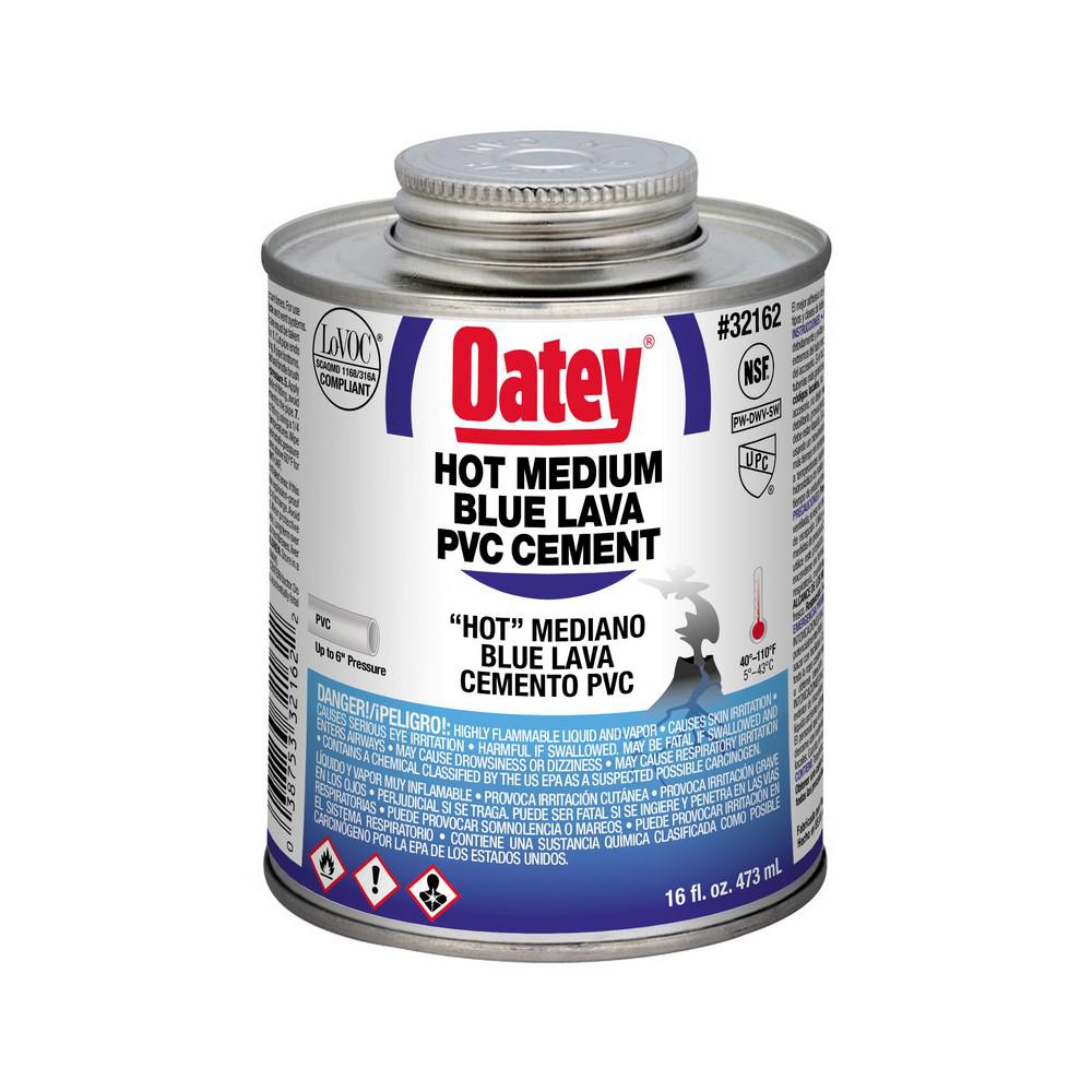 Oatey 16 oz. PVC Clear Cleaner-307953 - The Home Depot