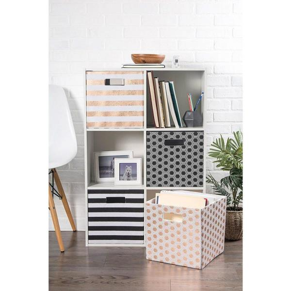 8c17b6daa6df DII Square Polyester Stripe Storage Cube CAMZ37911 - The Home Depot
