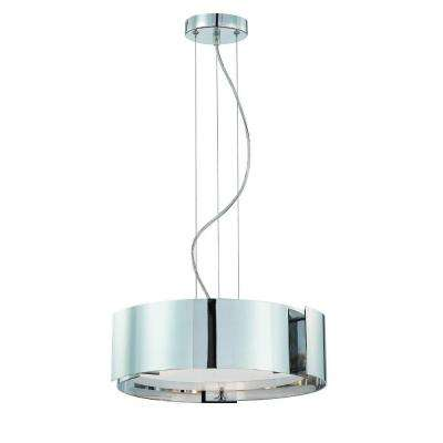 Dervish Collection 3-Light Satin Nickel Hanging Pendant
