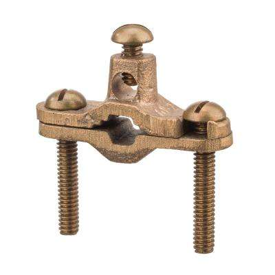3/8 in. - 1 in. Pipe Heavy Duty Bronze Ground Clamp Direct Burial for Rebar 2 AWG Ground Wire Max