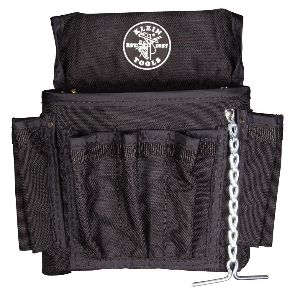 Klein Tools 19 Pocket Black Cordura Tool Pouch