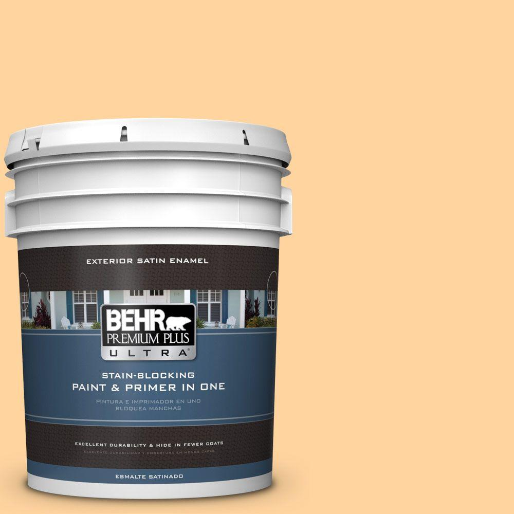BEHR Premium Plus Ultra 5-gal. #P240-3 Mango Nectar Satin Enamel Exterior Paint