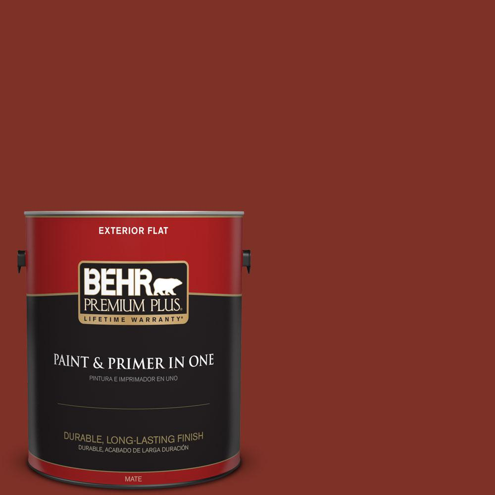 1 gal. #ECC-46-3 Red Hawk Flat Exterior Paint and Primer in