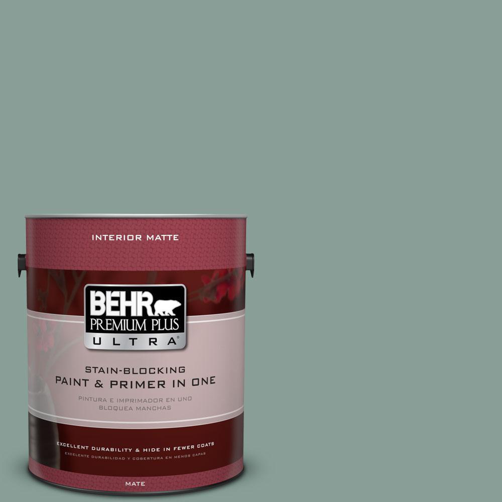 BEHR Premium Plus Ultra 1 gal. #480F-4 Mermaid Net Flat/Matte Interior Paint