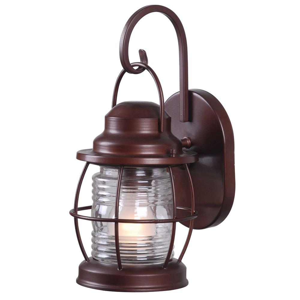 Copper outdoor wall mounted lighting outdoor lighting the harbor 1 light copper outdoor small wall lantern arubaitofo Choice Image
