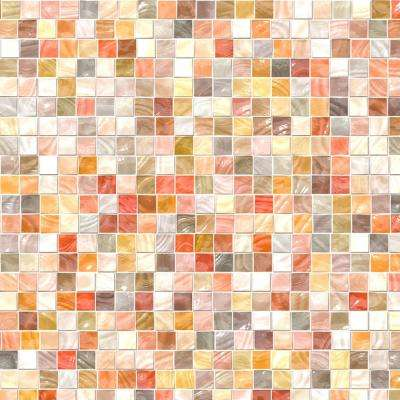 7.9 in. x 23.7 in. Pearl Mosaic Peel and Stick Tile Wall Decal
