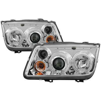 Volkswagen Jetta 99-05 Projector Headlights (Doesn't fit the Jetta 2.5) - LED Halo - Chrome - High H1 - Low H1