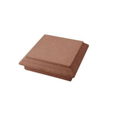 Vantage 5-1/2 in. x 5-1/2 in. Mahogany Composite Beveled Post Cap