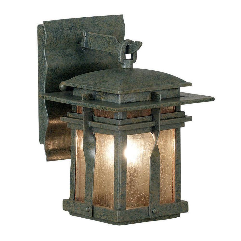 null Carrington Wall-Mount 1-Light Outdoor 9 in. Rust Extra Small Lantern