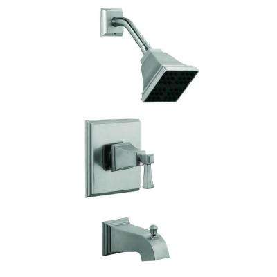 Torino 1-Handle 1-Spray Tub and Shower Faucet in Satin Nickel (Valve Included)