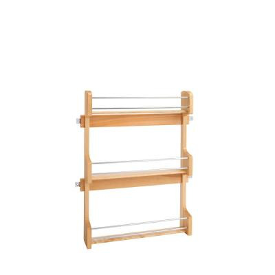 21.5 in. H x 16.5 in. W x 3.12 in. D Large Cabinet Door Mount Wood 3-Shelf Spice Rack