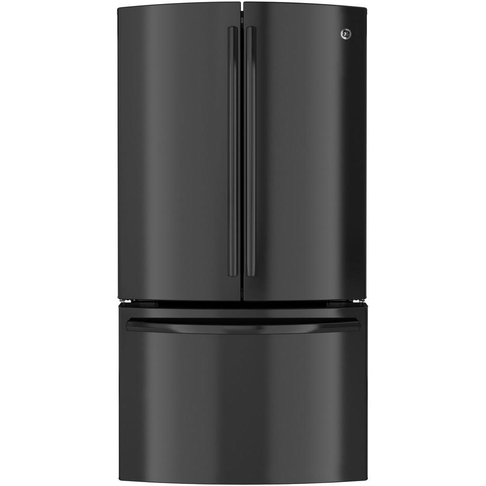 GE Profile 35.75 in. W 23.1 cu. ft. French Door Refrigerator in Black, Counter Depth