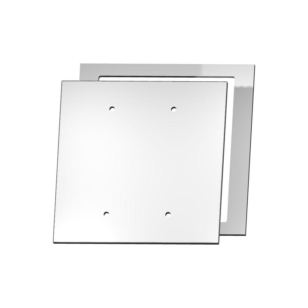 MirrEdge Crystal Cut Mirror 2 Blank Wall Plate with Clear Acrylic Spacer